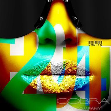 2 HOT 4U Pop art Fashion and faces photography Cobra Art Company Photographic art on plexiglas