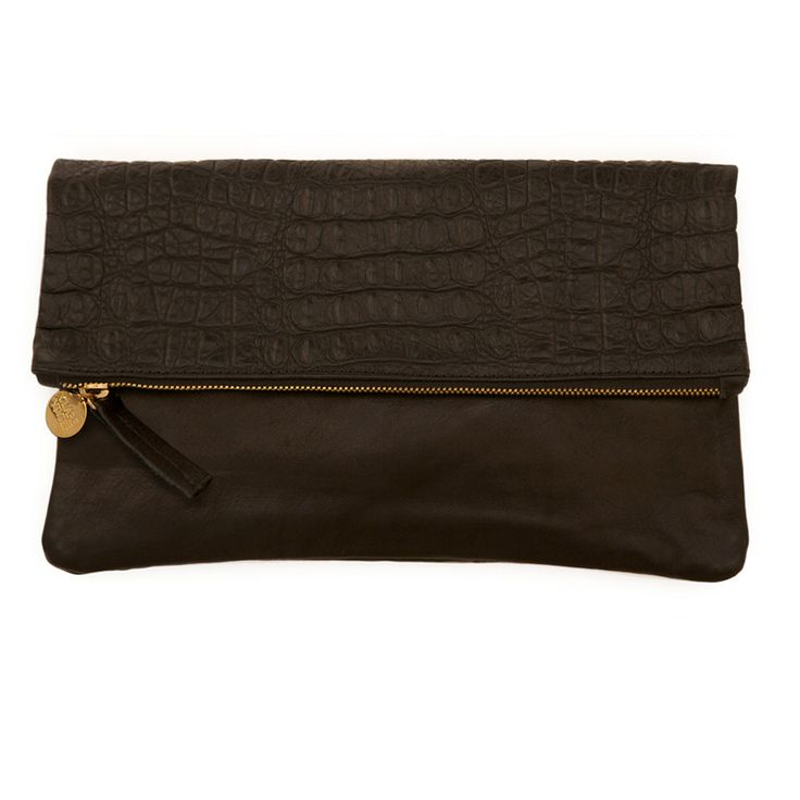 Leather Statement Clutch - Navahoe by VIDA VIDA IX01GHeBl