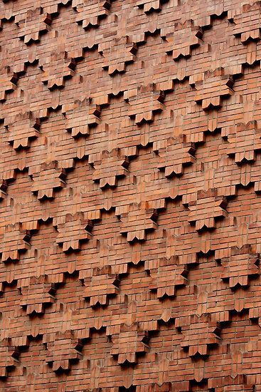 Brick Patterns on a Wall, Turin, Italy | ©Indrani Ghose