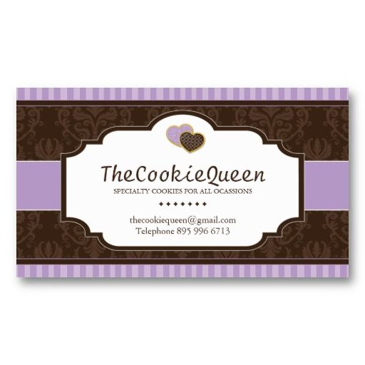 12 best business cards images on pinterest bakery business cards fun cookie bakery business card colourmoves