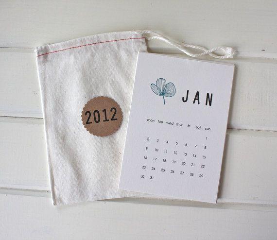 Balení kalendáře- látková taštička