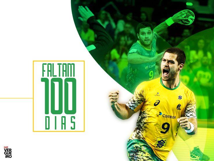Lucas Cândido - Atleta de Handebol - 100 dias para os jogos olímpicos. #Rio2016 #OlimpiadasRio2016