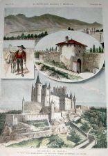 Recuerdos de Segovia ; El cerro de la mujer muerta, un segoviano, puerta de Santiago, el Alcazar > Grabados, VISTAS (Vistas topograficas) . Frame | Grabados, Mapas Antiguos, Atlas y Libros de Viaje Madrid