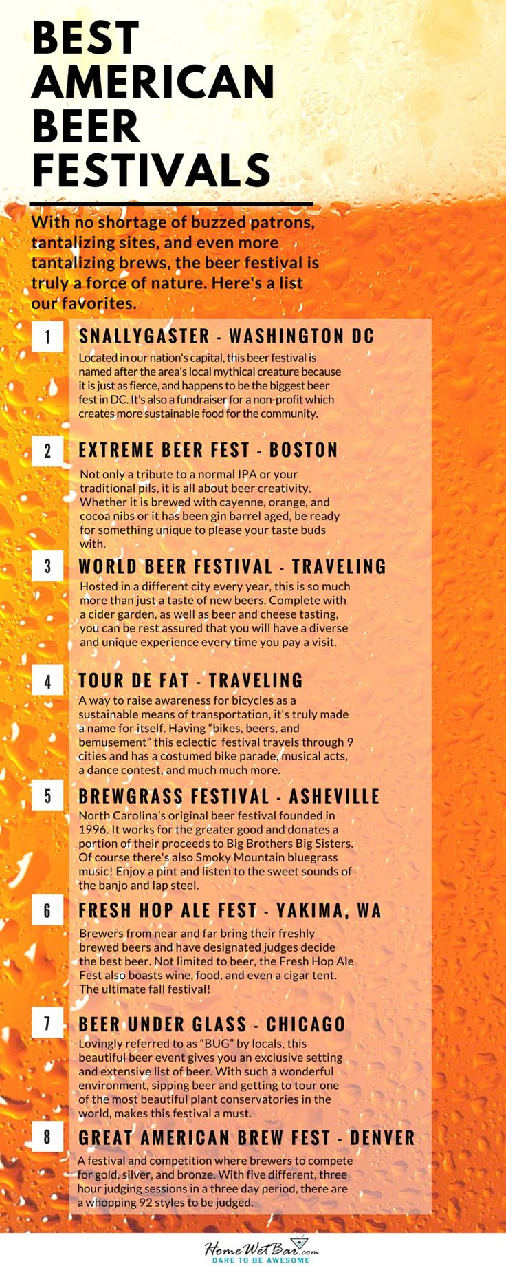 Best American Beer Festivals Infographic #SouthernRecipeSmallBatch