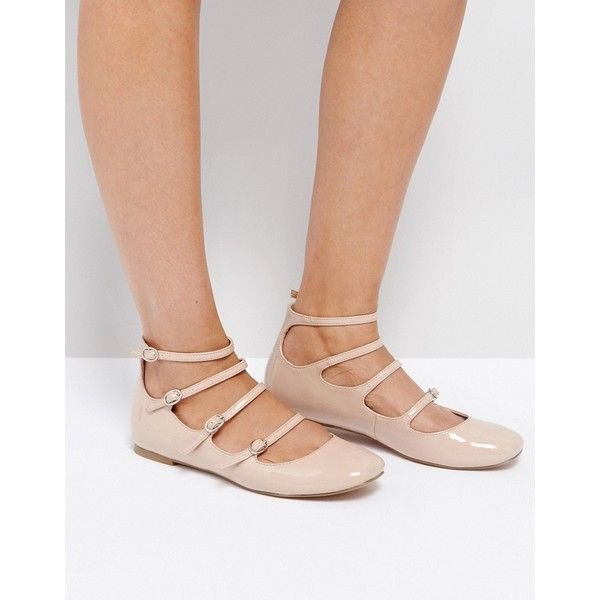 ASOS LUNGE Ballet Flats ($28) ❤ liked on Polyvore featuring shoes, flats, beige, asos flats, square toe ballet flats, flat pumps, beige flats and prom shoes