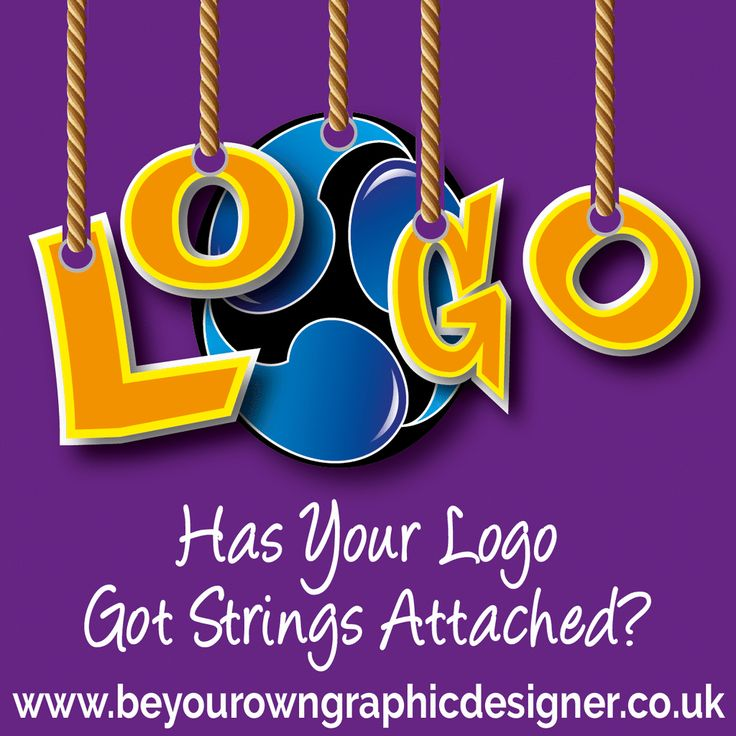 Does your logo have strings attached? Strings attached gif