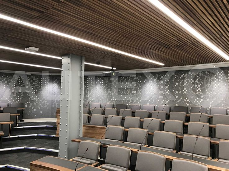 Autex Acoustics - Cube™ - Kings College London, UK - Custom cut - Colours: Flatiron - Direct Fix to Wall - Acoustics in Education - Modern Learning Environment
