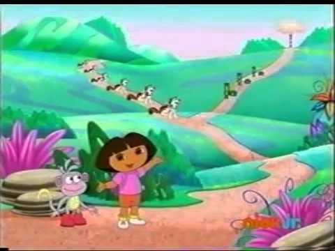 """""""Dora la exploradora"""", una serie de dibujos muy buena para aprender español. Se mezcla el uso de inglés y de español."""