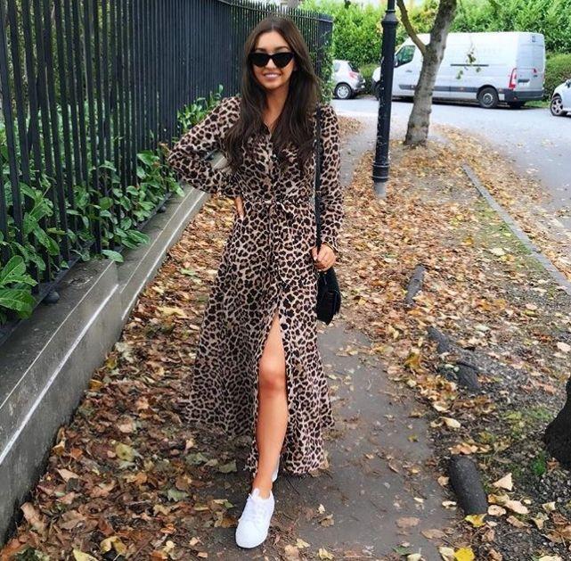 Zara Leopar Desenli Elbise Modeli 2019 Redshoes Streetchic Streetfashion Streetlooks Streetstyle Streetlook Streetsnaps Elbise Modelleri Elbise Moda