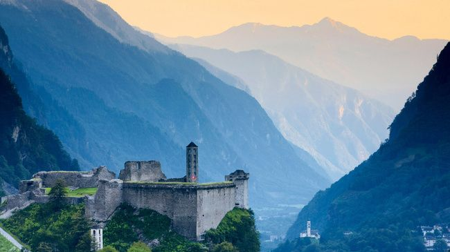Castle Ruin Mesocco - Switzerland Tourism