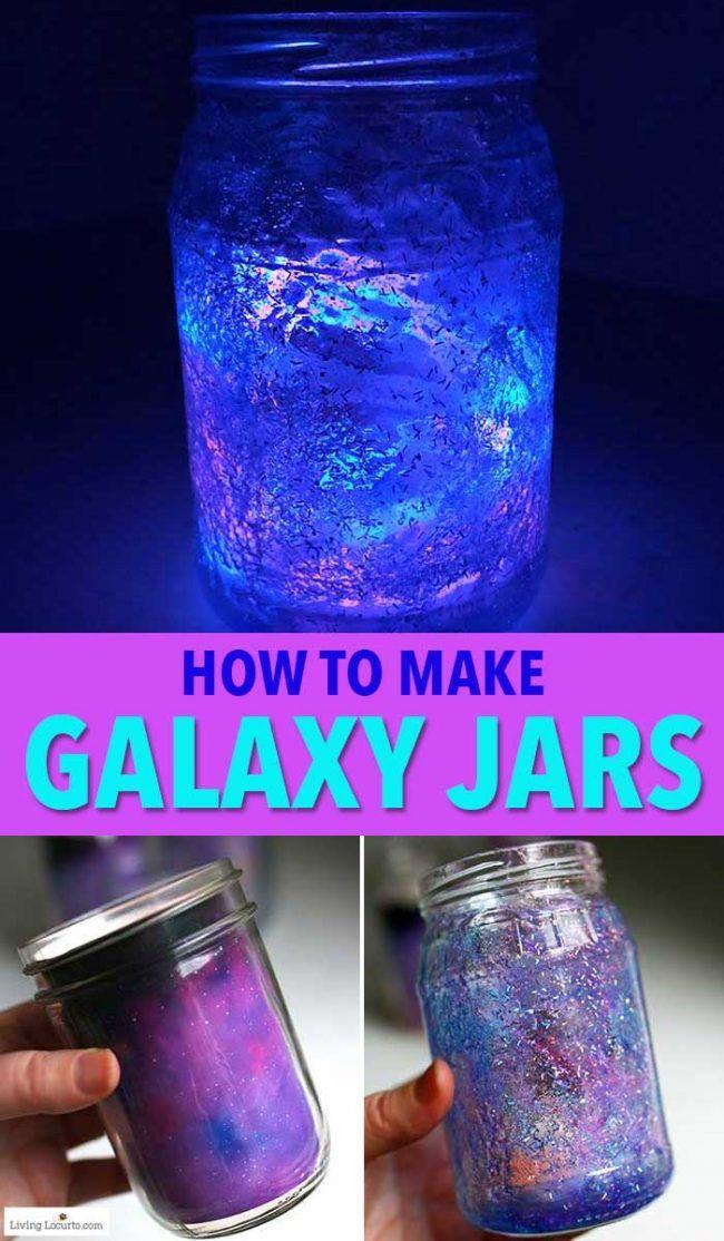 Comment faire des bocaux Glow in the Dark Galaxy. Un tutoriel de bricolage facile et une fête d …