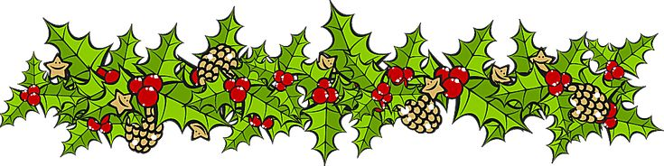 Clip Art For The Christmas Holidays: Holly Border Horizontal
