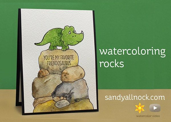 Sandy Allnock Watercoloring Rocks