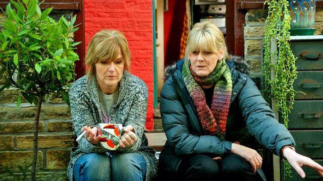 Siobhan Finneran and Sarah Lancashire in BBC drama Happy Valley ~ season 1