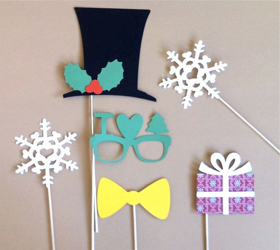 Christmas Photo Booth Props  Holiday by CreativeButterflyXOX, $12.95