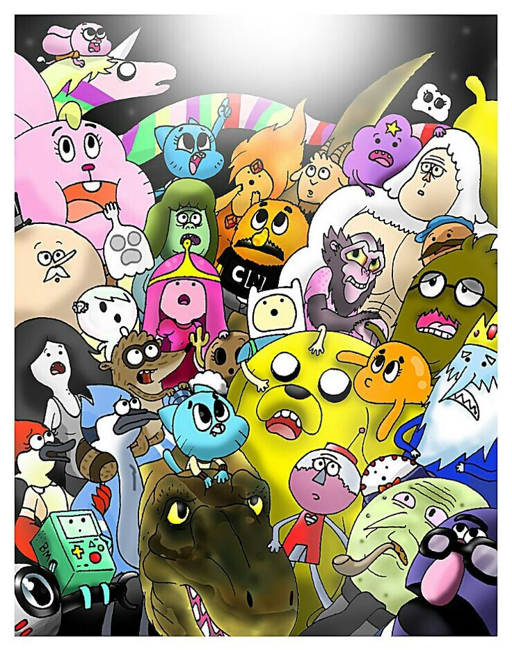 Adventure Time, The Amazing World of Gumball, and Regular