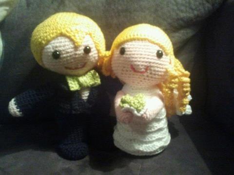 Gehaakt bruidspaar. Cute!