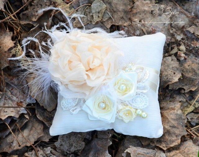 Подушечка для колец. Wedding accessories. Свадебные аксессуары. Аксессуары для свадьбы.