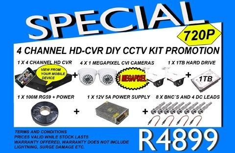 THESE UNITS ARE SOLD AS KITS, INCLUDES THE CAMERAS, HD CVR, CAMERAS 1 MEGAPIXEL, POWER SUPPLY AND CABLE, BUT EXCLUDES THE SCREEN, PLEASE GIVE US A CALL OR EMAIL IF YOU NEED MORE INFO