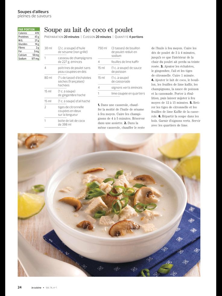 «Soupes d'ailleurs pleines de saveurs» de JE Cuisine, Janvier 2018. Lisez-le sur l'appli Texture, qui vous donne accès à plus de 200 magazines de grande qualité.