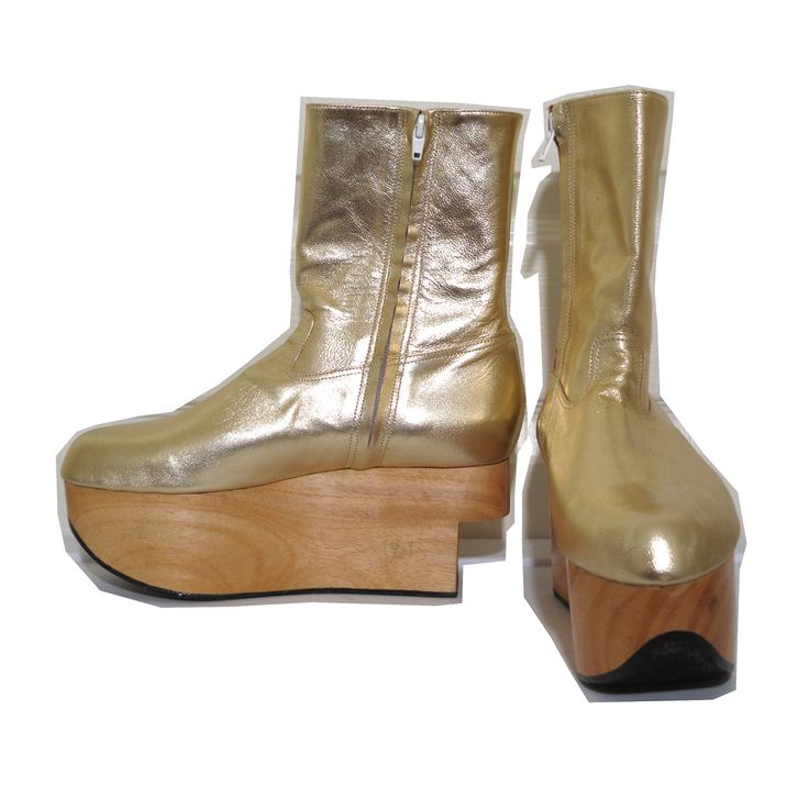 Vivienne Westwood Gold Label Rocking Horse Shoes Boots in Gold Kid Leather