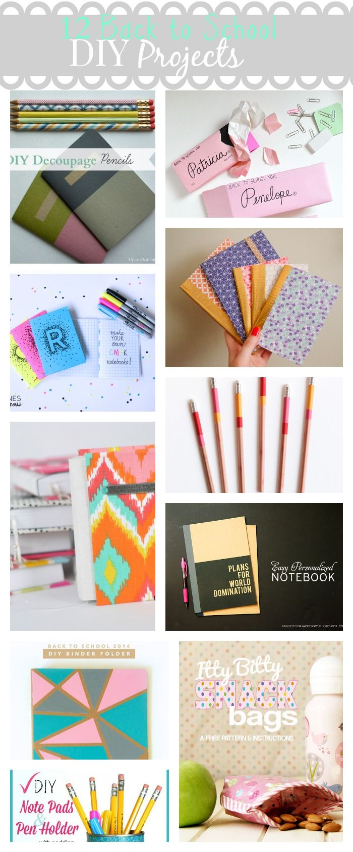 10 back to school diy projects!
