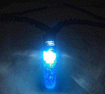 Allume collier en cristal de Quartz Aqua Aura éclatante par psysub