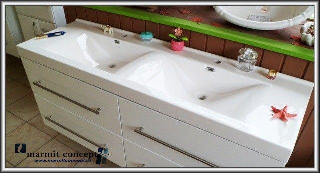 lavoar baie ikea ~ lavoar compozit dublu 140 cm  baie  pinterest