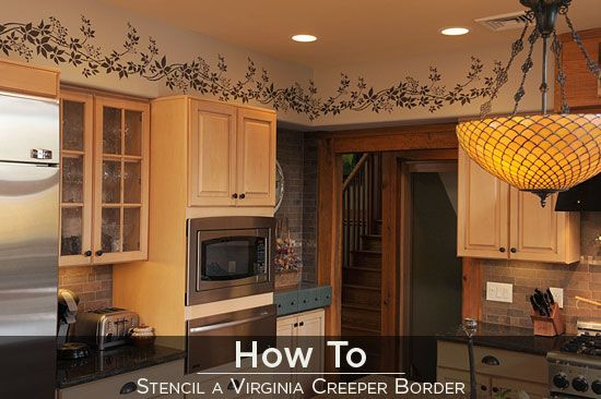 How To Stencil a Border Video Tutorial