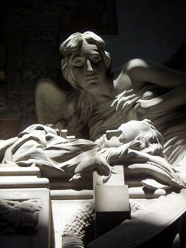 Angel....Staglieno IS set in one of the eastern district of Genoa. Designed in the early nineteenth century by one of The Most Appreciated city's architects, Carlo Barabino, it features marbles... Hundreds of Striking sculptures and monuments to the personalities buried there.