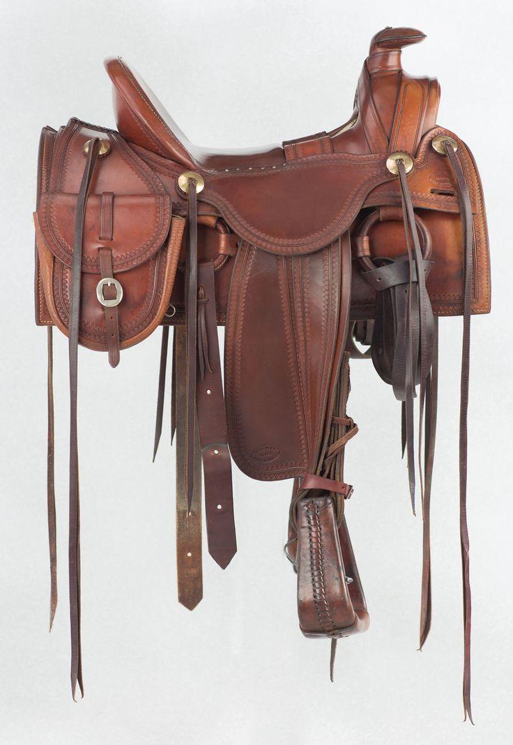Western saddle chair - Beautiful Custom Half Seat Meier Saddle Used In The Tv Movie Crossfire