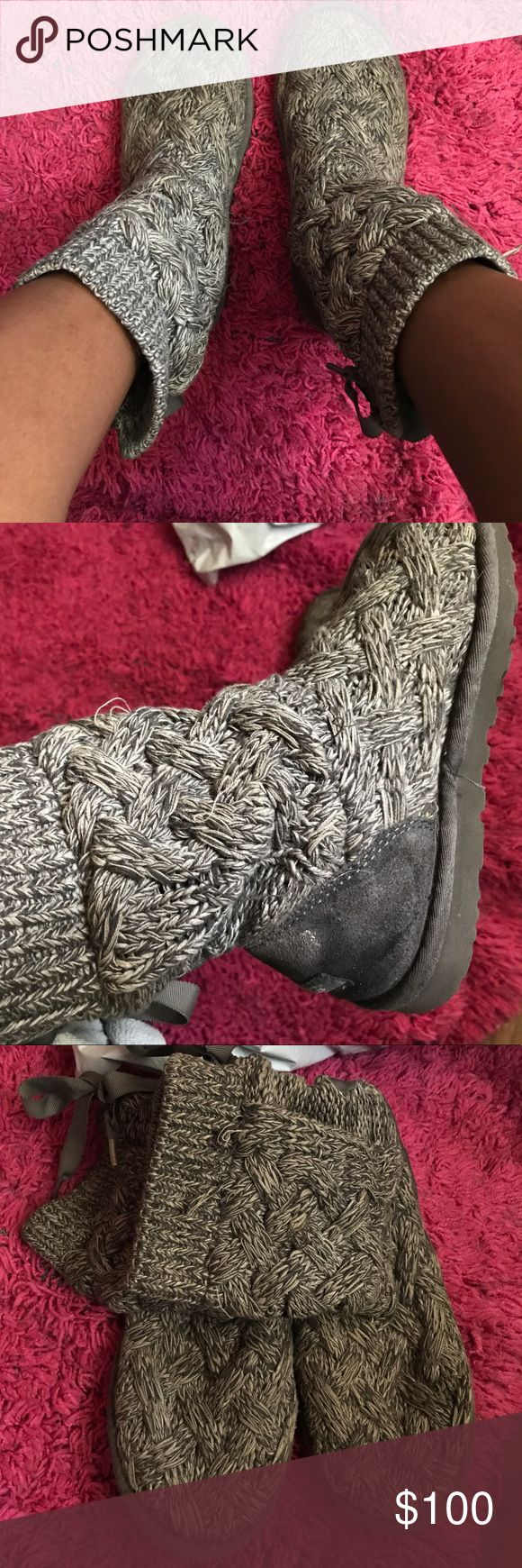 Ugg boots Uggs boots not the worn down. There is marks from salt on the back on the boot. Also have its original box that it came in. (Reasonable offers) UGG Shoes Winter & Rain Boots