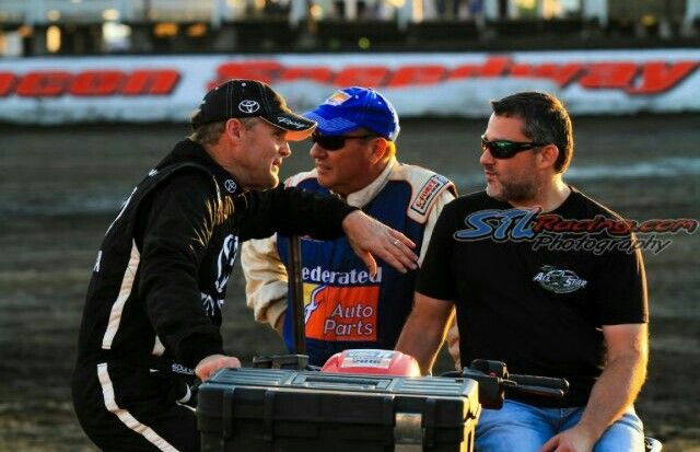 Kenny Wallace, Kenny Schrader and Tony Stewart