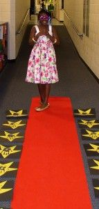 Great end of the year awards idea-walk of fame with stars on the hallway