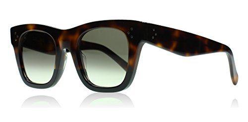 6649a9cddd0 Celine 41089 S AEA Tortoise Catherine Small Square Sunglasses Lens Category  3 S--