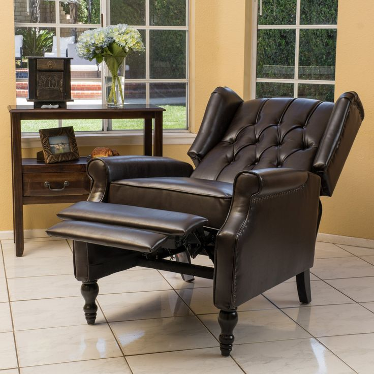 Temzyl Contemporary Brown Leather Recliner Chair The Will Make A Statement In Any Room Chairs For Living