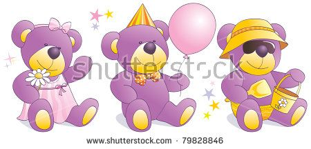 Purple Teddy Bears Stock Images, Royalty-Free Images & Vectors ...