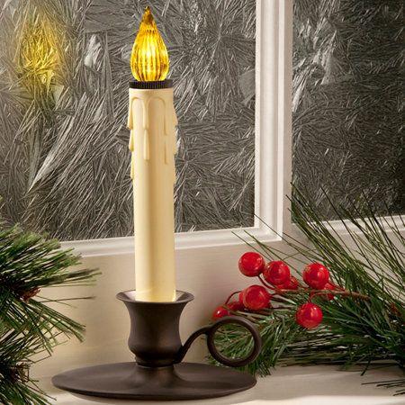Williamsburg Window Candle With Led Sensor Christmas