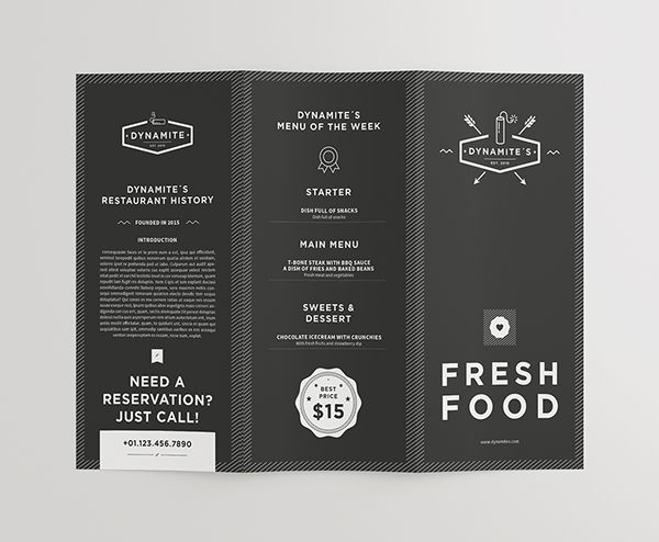 Food & Restaurant Menu Design on Behance