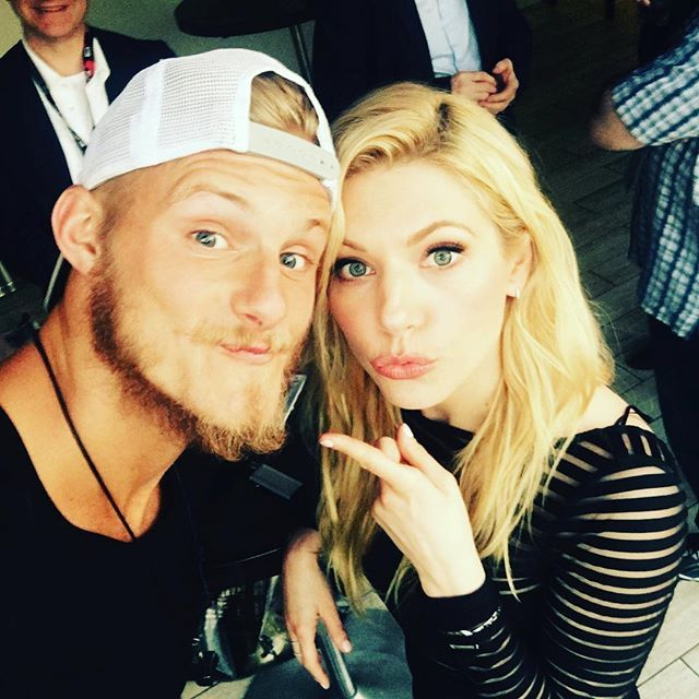 Katheryn Winnick and Alexander Ludwig