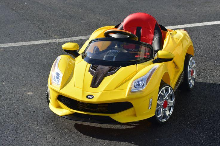 Ferrari yellow power wheels for kids http://americas-toys.com/ride-on-toys/battery-power/yellow-ferrari-ride-on-car