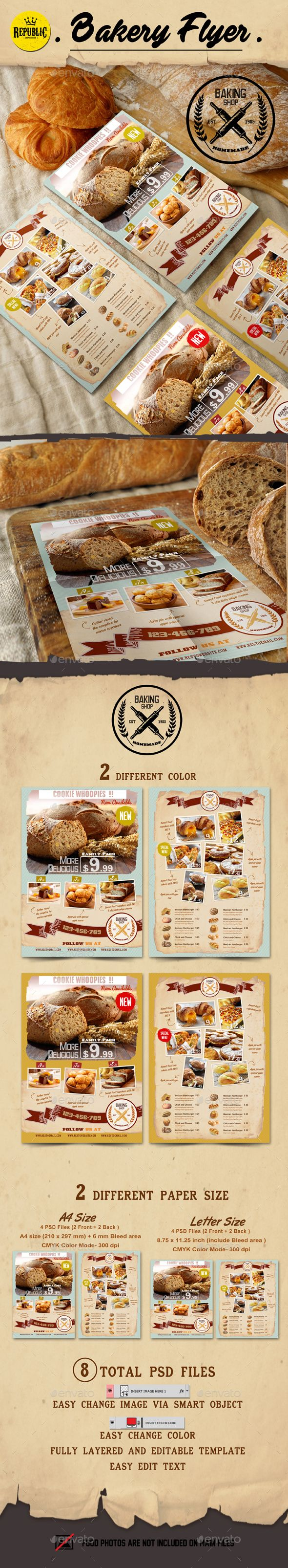 Kitchen Layout Templates 6 Different Designs: BAKERY FLYER File Features 2 DIFFERENT COLOR