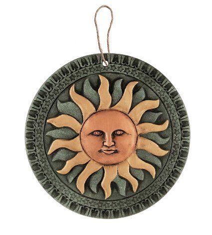 Terracotta Sun Hanging Wall Art Plaque Amazon Co Uk