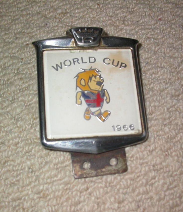 RENAMEL VINTAGE CLASSIC CAR BADGE 1966 WORLD CUP WILLIE ENGLAND FOOTBALL MASCOT   | eBay