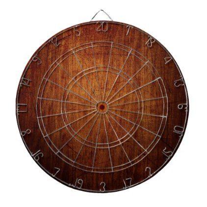dark wood texture dart board