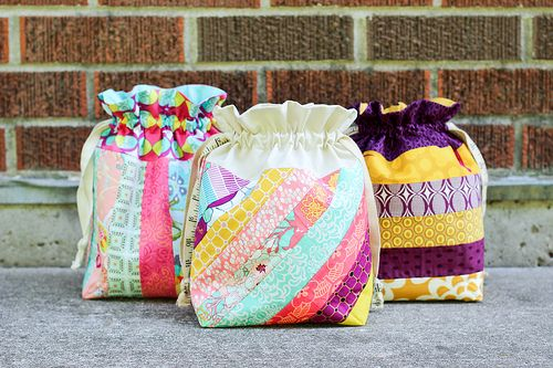 In Color Order: Striped Drawstring Bag Tutorial