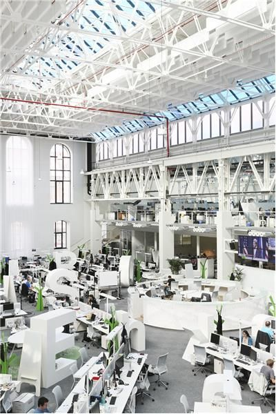 Economia newsroom Prague by w:u studio