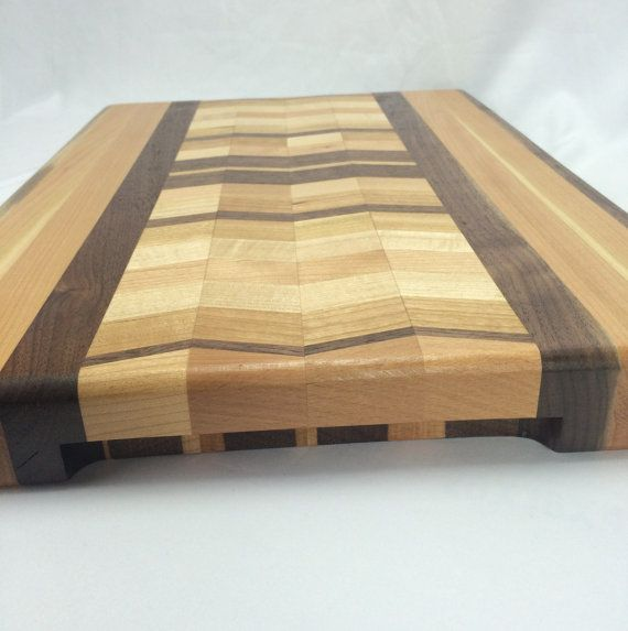 Large wave pattern butcher block by HartmanWoodworks on Etsy