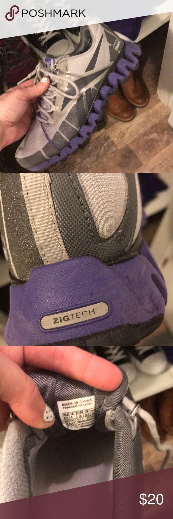 Reebok zig wilds for trail Reebok zig wilds for trail  purple and silver very nice shoes I never wear Reebok Shoes Sneakers
