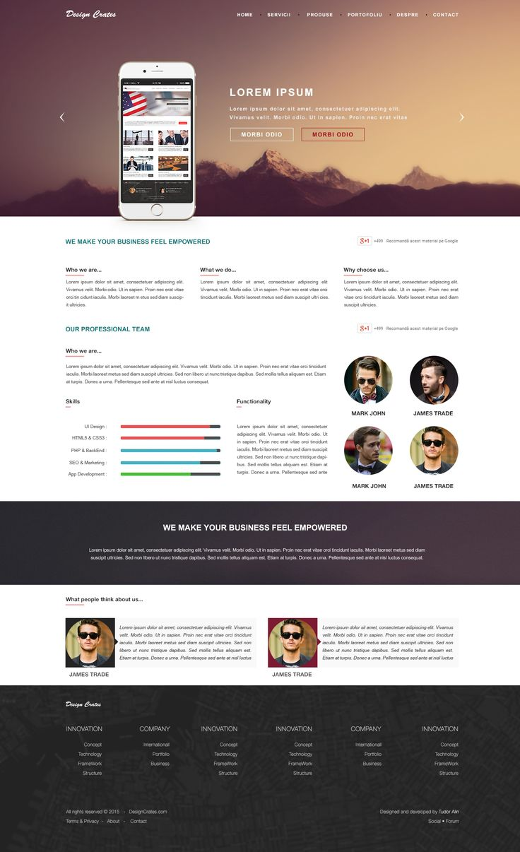 Web solution landing page design
